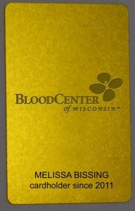 BCW gold card